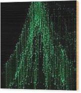 Green Tree 2 Wood Print