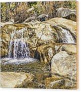 Green Valley Falls Winter Wood Print
