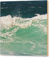 Green Wave Pacific Grove Ca  Wood Print
