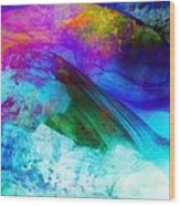 Green Wave - Vibrant Artwork Wood Print