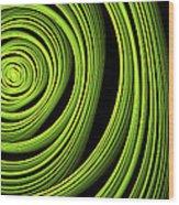 Green Wellness Wood Print