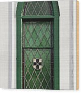 Green Window Wood Print