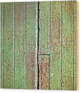 Green Wood Wood Print