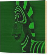 Green Zebra Wood Print