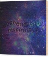 Greener Side Dispensary In Space Wood Print