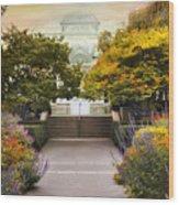 Greenhouse Garden Wood Print