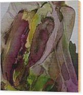 Greenish Pepper Wood Print