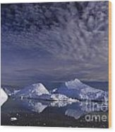 Greenland Midnight Sun Wood Print
