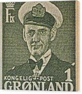 Greenland Stamp Circa 1950 Wood Print