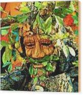Greenman Wood Print