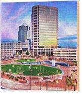 Greensboro Center City Park II Wood Print