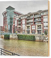 Greenville River Front Wood Print