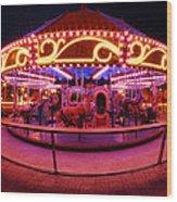 Greenway Carousel - Boston Wood Print
