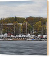 Greenwich Harbor Wood Print by Lourry Legarde
