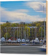 Greenwich Marina Wood Print