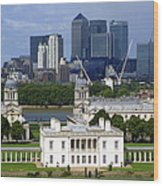 Greenwich View Wood Print