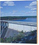 Greers Ferry Dam Wood Print by Edward Hamilton