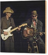 Greg Brown And Bo Ramsey In Concert Wood Print