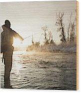 Greg Houska Fly Fishing On The Provo Wood Print