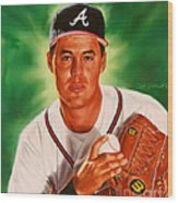 Greg Maddux Wood Print by Dick Bobnick