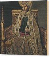 Gregory I The Great, Saint 540-604 Wood Print
