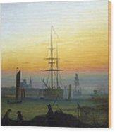 Greifswald Harbour Wood Print
