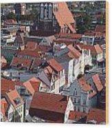 Greifswald Roofscape Pomerania Wood Print