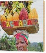 Grenada Spice Woman. Wood Print