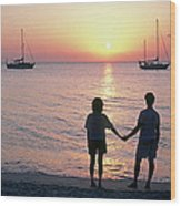 Grenada Sunset Wood Print