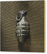 Grenade Wood Print