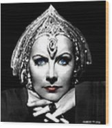 Greta Garbo Portrait Wood Print
