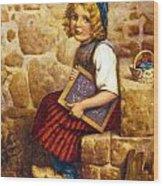 Gretel Brothers Grimm Wood Print