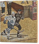 Gretzky And Gilmour 2 Wood Print