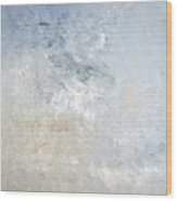 Gathered - Grey And Beige Abstract Art Painting Wood Print