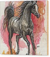 Grey Arabian Horse 2014 01 12 Wood Print