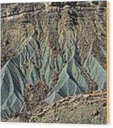 Grey Cliffs In Waterpocket Fold  Wood Print
