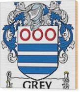 Grey Coat Of Arms Irish Wood Print