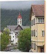 Grey Day In Switzerland  Wood Print