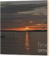 Grey Harbor Sunset  Wood Print