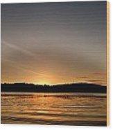 Grey Heaven - Sunrise Panorama Wood Print