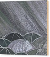 Grey Rain 2 By Jrr Wood Print