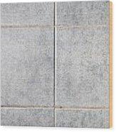 Grey Tiles Wood Print