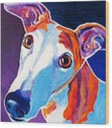 Greyhound - Halle Wood Print by Alicia VanNoy Call