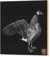 Greyscale Canada Goose Pop Art - 7585 - Bb  Wood Print