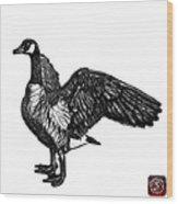 Greyscale Canada Goose Pop Art - 7585 - Wb Wood Print