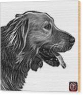Greyscale Golden Retriever - 4047 Fs Wood Print