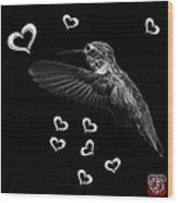 Greyscale Hummingbird - 2055 F M Wood Print