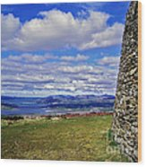 Grianan Of Aileach View Wood Print