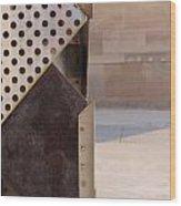 Grid And Block 2 Wood Print