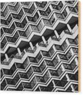 Grid Lines Wood Print